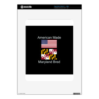 """American Born..Maryland Bred"" Flag Design iPad Decal"