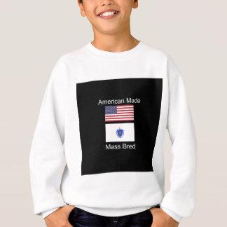 """American Born..Massachusetts Bred"" Flag Design Sweatshirt"