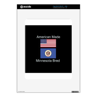 """American Born..Minnesota Bred"" Flag Design Skins For The iPad"