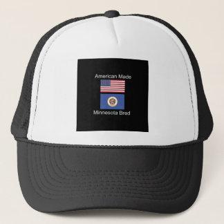 """""""American Born..Minnesota Bred"""" Flag Design Trucker Hat"""