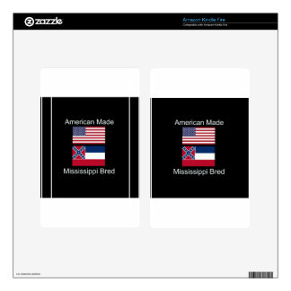 """""""American Born..Mississippi Bred"""" Flag Design Kindle Fire Decal"""