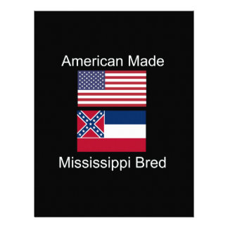 """""""American Born..Mississippi Bred"""" Flag Design Letterhead"""