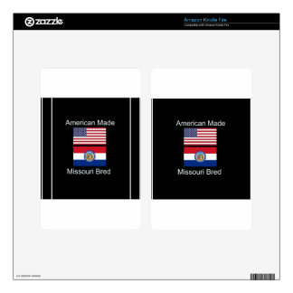 """American Born..Missouri Bred"" Flag Design Kindle Fire Skins"