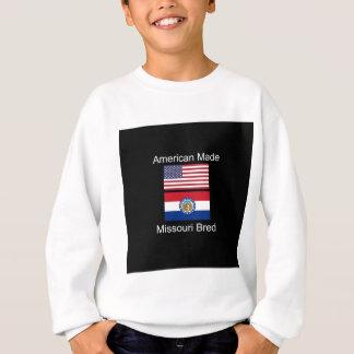 """American Born..Missouri Bred"" Flag Design Sweatshirt"