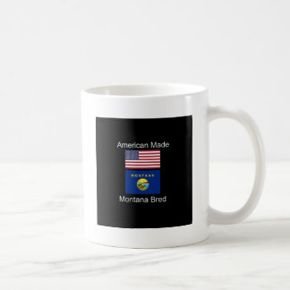 """American Born..Montana Bred"" Flags and Patriotism Coffee Mug"