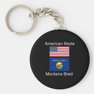 """""""American Born..Montana Bred"""" Flags and Patriotism Keychain"""