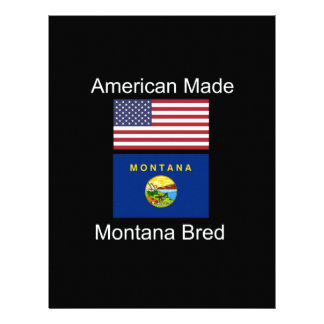 """""""American Born..Montana Bred"""" Flags and Patriotism Letterhead"""