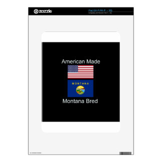"""American Born..Montana Bred"" Flags and Patriotism Skin For iPad"