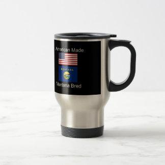 """American Born..Montana Bred"" Flags and Patriotism Travel Mug"