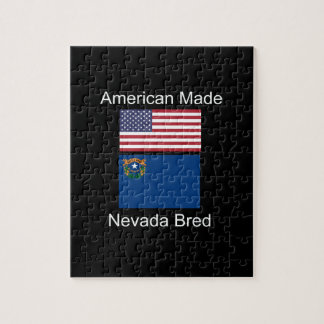 """""""American Born..Nevada Bred"""" Flags and Patriotism Jigsaw Puzzle"""