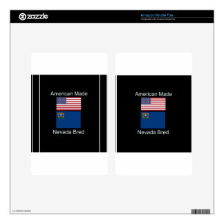 """American Born..Nevada Bred"" Flags and Patriotism Kindle Fire Skin"