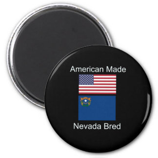 """""""American Born..Nevada Bred"""" Flags and Patriotism Magnet"""