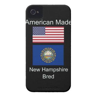 """American Born..New Hampshire Bred"" Flag Design iPhone 4 Case-Mate Case"