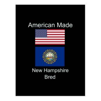 """""""American Born..New Hampshire Bred"""" Flag Design Postcard"""