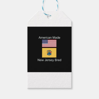 """""""American Born..New Jersey Bred"""" Flag Design Gift Tags"""