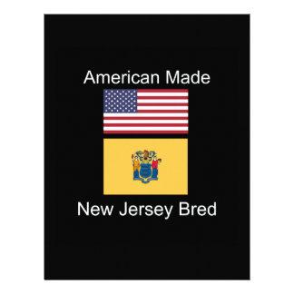 """American Born..New Jersey Bred"" Flag Design Letterhead"
