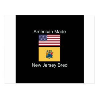 """American Born..New Jersey Bred"" Flag Design Postcard"
