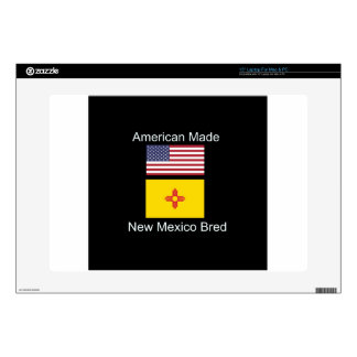 """American Born..New Mexico Bred"" Flag Design Skins For Laptops"
