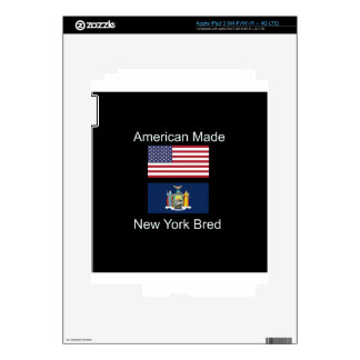 """""""American Born..New York Bred"""" Flag Design Decal For iPad 3"""