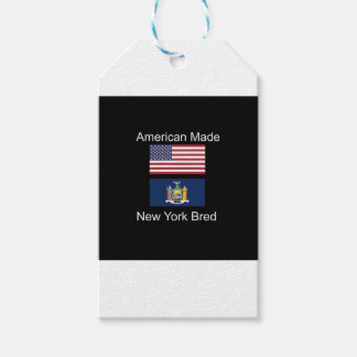 """American Born..New York Bred"" Flag Design Gift Tags"
