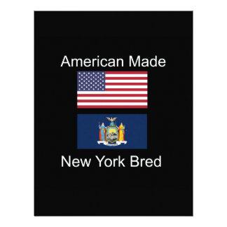 """American Born..New York Bred"" Flag Design Letterhead"