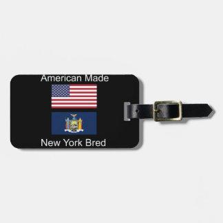 """American Born..New York Bred"" Flag Design Luggage Tag"