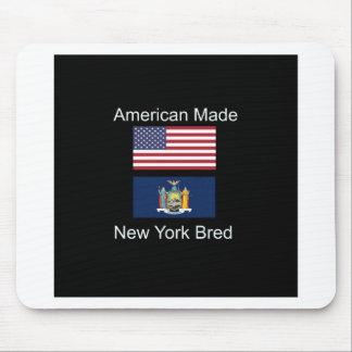 """American Born..New York Bred"" Flag Design Mouse Pad"