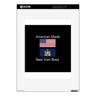 """American Born..New York Bred"" Flag Design Skin For iPad"