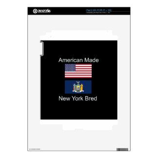 """American Born..New York Bred"" Flag Design Skin For iPad 2"