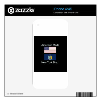 """""""American Born..New York Bred"""" Flag Design Skins For The iPhone 4"""