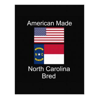 """""""American Born..North Carolina Bred"""" Flag Design Letterhead"""