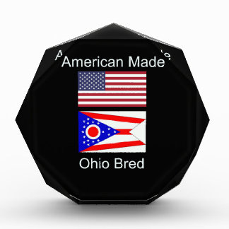 """American Born..Ohio Bred"" Flags and Patriotism Acrylic Award"
