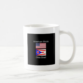 """American Born..Ohio Bred"" Flags and Patriotism Coffee Mug"