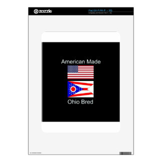 """American Born..Ohio Bred"" Flags and Patriotism Decal For The iPad"