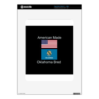 """American Born..Oklahoma Bred"" Flag Design Skins For The iPad"