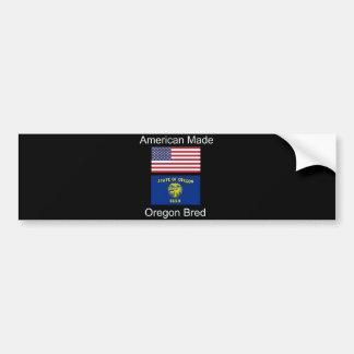 """American Born..Oregon Bred"" Flags and Patriotism Bumper Sticker"