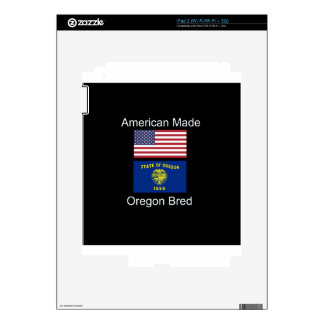 """American Born..Oregon Bred"" Flags and Patriotism Skin For The iPad 2"
