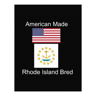 """American Born..Rhode Island Bred"" Flag Design Letterhead"