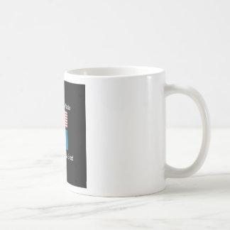 """American Born..South Dakota Bred"" Flag Design Coffee Mug"