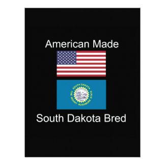 """""""American Born..South Dakota Bred"""" Flag Design Letterhead"""