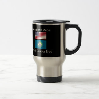 """American Born..South Dakota Bred"" Flag Design Travel Mug"