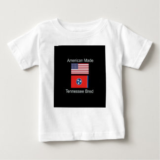 """""""American Born..Tennessee Bred"""" Flag Design Baby T-Shirt"""
