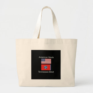 """""""American Born..Tennessee Bred"""" Flag Design Large Tote Bag"""