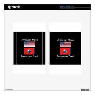 """American Born..Tennessee Bred"" Flag Design Skins For Kindle Fire"