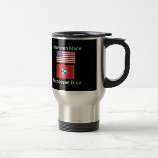 """American Born..Tennessee Bred"" Flag Design Travel Mug"