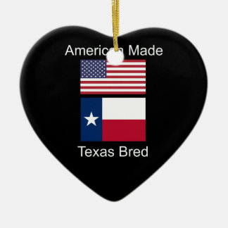 """American Born..Texas Bred"" Flags and Patriotism Ceramic Ornament"