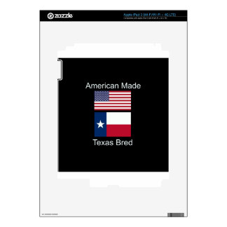 """American Born..Texas Bred"" Flags and Patriotism Decals For iPad 3"