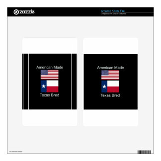 """American Born..Texas Bred"" Flags and Patriotism Kindle Fire Skin"