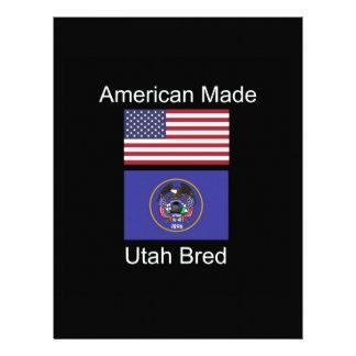 """American Born..Utah Bred"" Flags and Patriotism Letterhead"