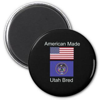 """""""American Born..Utah Bred"""" Flags and Patriotism Magnet"""